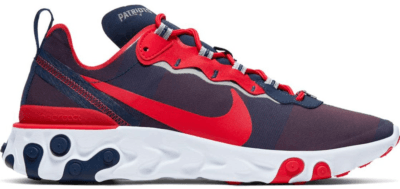 Nike React Element 55 New England Patriots College Navy/White-Silver-University Red CK4883-400