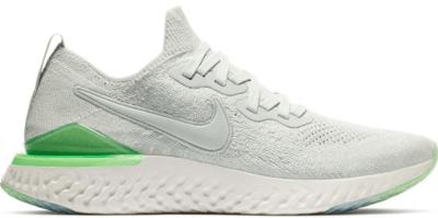 Nike Epic React Flyknit 2 Light Silver Lime Blast (W) Light Silver/Light Silver-Lime Blast BQ8927-005