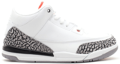 Jordan 3 Retro White Cement 2011 (PS) White/Fire Red-Cement Grey-Black 429487-105