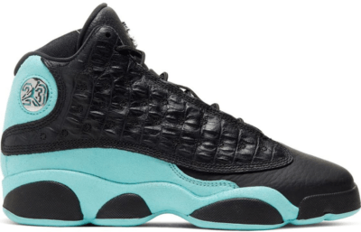 Jordan 13 Retro Black Island Green (GS) 884129-030