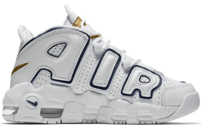 Nike Air More Uptempo White Midnight Navy (GS) 415082-109