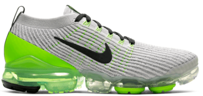 Nike Air VaporMax Flyknit 3 Vast Grey Electric Green Vast Grey/Electric Green-White-Off Noir AJ6900-011