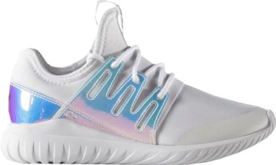 adidas Tubular Radial Iridescent (Youth) Silver Metallic/Footwear White AQ6281