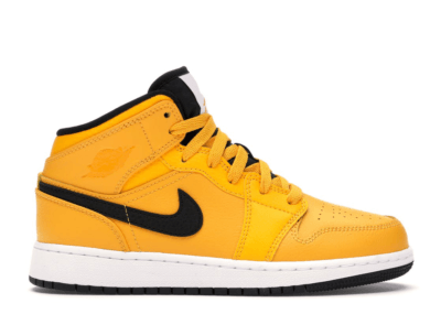 Jordan 1 Mid University Gold Black (GS) University Gold/Black-White-Gym Red 554725-700