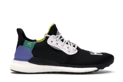 adidas Solar Hu Glide Pharrell Core Black (W) Core Black/Cloud White/Bright Cyan CG6736