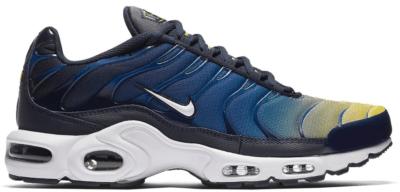 Nike Air Max Plus Gradient Pack (Obsidian) Obsidian/Gym Blue-Lemon Wash-White 852630-407