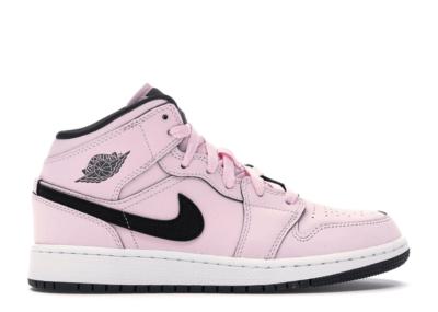 Jordan 1 Mid Pink Foam (GS) Pink Foam/Black-White 555112-601