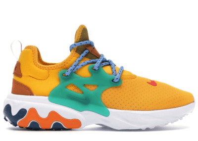 Nike React Presto Breakfast University Gold/Habanero Red-Mystic Green-Cinder Orange-University Blue-Blue Force AV2605-701