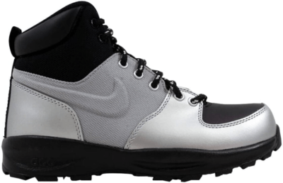 Nike Manoa Leather Metallic Silver (GS) Metallic Silver/Black-Black 472648-020