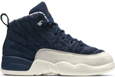 Jordan 12 Retro International Flight (PS) College Navy/University Red-Sail BV8018-445