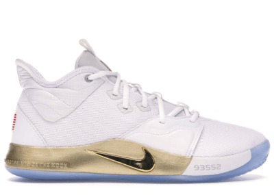 Nike PG 3 NASA White White/Metallic Gold CI2666-100/CI2667-100