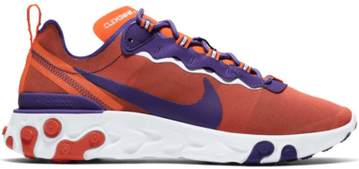 Nike React Element 55 Clemson University Orange/White-New Orchid CK4796-800