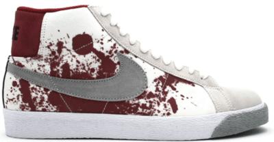 Nike SB Blazer Blood Spatter White/Metallic Silver-Black 314070-102
