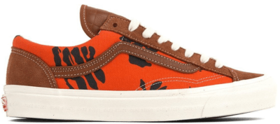 Vans Style 36 Modernica Orange Hawaiian Print Leather Brown/Hawaiian VN0A3MVMVQJ