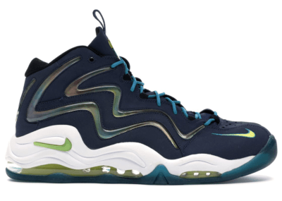 Nike Air Pippen 1 Midnight Navy Midnight Navy/Sonic Yellow-Tropical Teal 325001-400