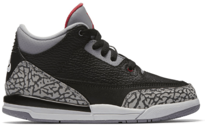 Jordan 3 Retro Black Cement 2018 (PS) Black/Fire Red-Cement Grey-White 429487-021
