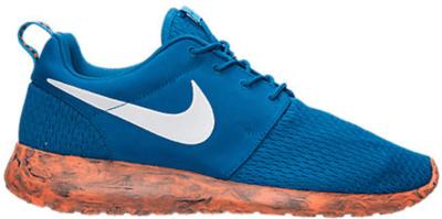 Nike Roshe Run Marble Military Blue Orange Military Blue/White-Vivid Blue-Total Orange 669985-400