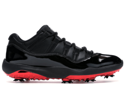 Jordan 11 Retro Low Golf Safari Bred Black/Black-University Red AQ0963-001