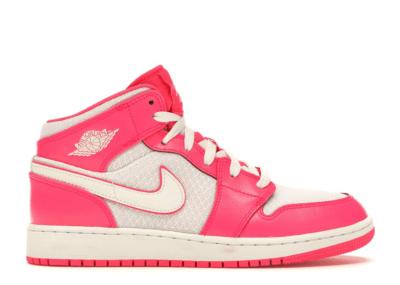 Jordan 1 Mid Hyper Pink White (GS) Hyper Pink/White-White 555112-611
