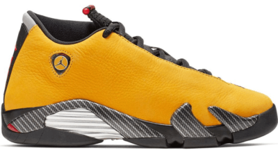 Jordan 14 Retro Ferrari University Gold (GS) University Gold/Black-University Red-Metallic Silver BV1218-706
