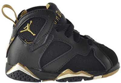 Jordan 7 Retro Golden Moments (TD) Black/Metallic Gold-Sail 304772-030