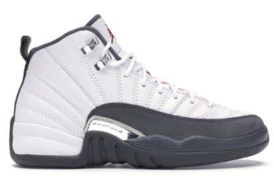 Jordan 12 Retro White Dark Grey (GS) White/Dark Grey-Gym Red 153265-160