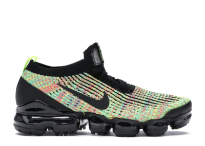 Nike Air VaporMax Flyknit 3 Multi-Color (W) Black/Black-Volt-Blue Lagoon-Racer Pink-Electro Green AJ6910-004