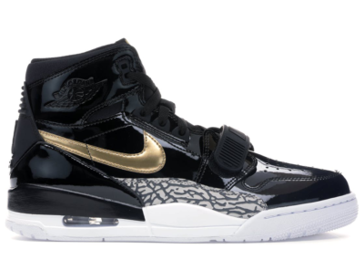 Jordan Legacy 312 Black Gold Patent Black/Metallic Gold-White AV3922-007