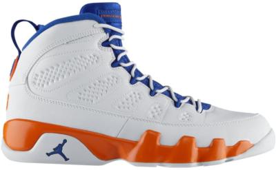 Jordan 9 Retro Fontay Montana (Knicks) Pure Platinum/Game Royal-Mandarin 302370-040
