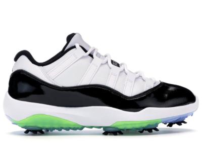 Jordan 11 Retro Low Golf Concord White/Black-Volt AQ0963-101