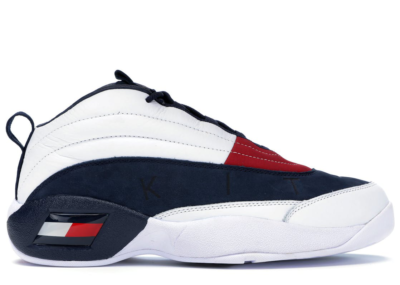 Tommy Hilfiger Skew Lux Basketball Sneaker Kith White White/Navy-Red KH9243-100