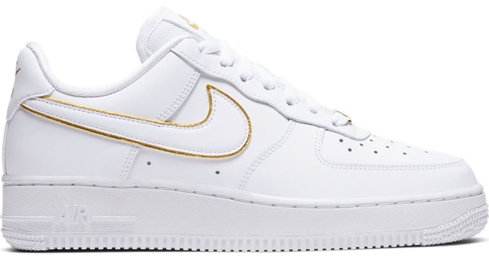 Nike Air Force 1 Low Icon Clash White Metallic Gold (W) AO2132-102