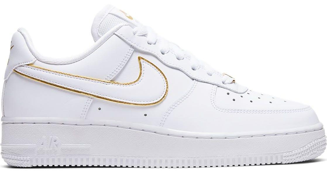 Nike Air Force 1 Low Icon Clash White Metallic Gold (W) AO2132-102