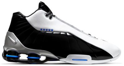 Nike Shox BB4 Black Patent White/Metallic Silver-Black-Varsity Royal AT7843-102