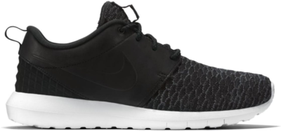 Nike Roshe Run Flyknit PRM Black White Black/Black-Dark Grey-White 746825-001