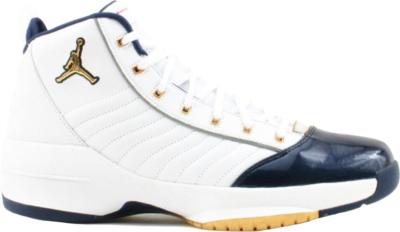 Jordan 19 OG SE Olympic White/Metallic Gold-Midnight Navy 308492-171
