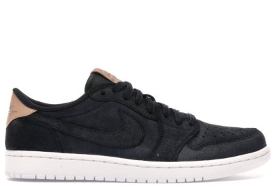 Jordan 1 Retro Low OG Black Vachetta Black/Vachetta Tan-White 905136-010