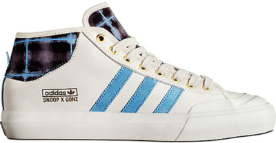 adidas Matchcourt Mid Snoop Dogg x Gonz Cream Chalk White/Light Blue/Gold Metallic BY4542