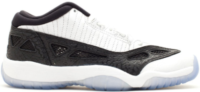 Jordan 11 Retro Low IE White Black 2011 (GS) White/Metallic Silver-Black 306006-100