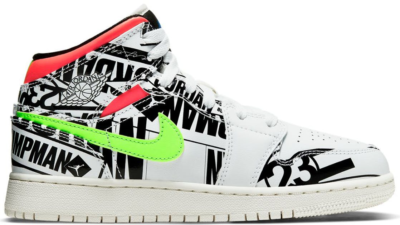 Jordan 1 Mid All Over Logos (GS) 554725-143