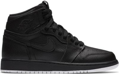 Jordan 1 Retro High Black Perforated (GS) Black/White-Black 575441-002