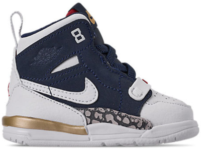 Jordan Legacy 312 Olympic (TD) White/White-Midnight Navy-Varsity Red-Metallic Gold AT4055-101
