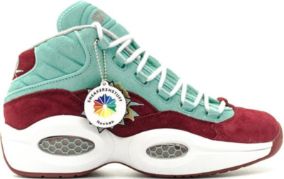 Reebok Question Mid SNS Shoe About Nothing Red/Aqua 48995