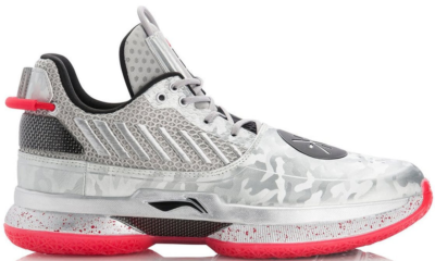 Li-Ning Way of Wade 7 Veterans Day Silver Grey/Standard Black-Cherry Red ABAN079-3
