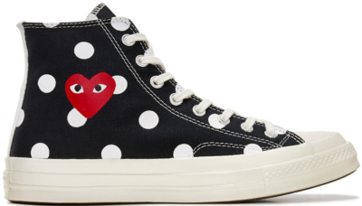 Converse Chuck Taylor All-Star 70s Hi Comme des Garcons PLAY  Polka Dot Black Black/White-Red 157250C