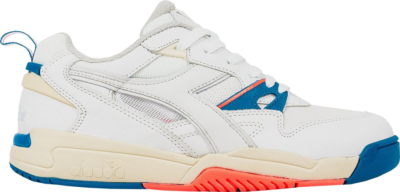 Diadora Rebound Ace Packer Shoes On/Off Pack (On) White/Light Grey-Electric Blue-Hot Coral 174414