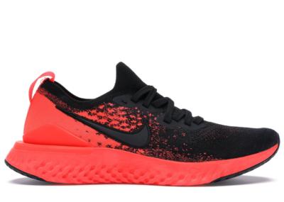 Nike Epic React Flyknit 2 Black Bright Crimson Infrared Black/Bright Crimson-Infrared-Black BQ8928-008