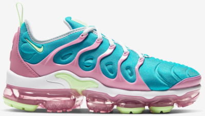 Nike Air VaporMax Plus Easter 2020 (W) White/Platinum Tint-Oracle Aqua-Barely Volt CW7014-100