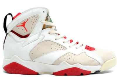 Jordan 7 OG Hare (1992) White/Light Silver-True Red 130014-100