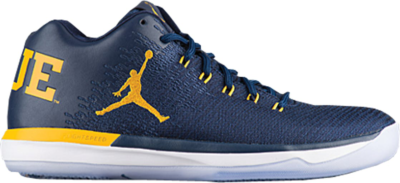 Jordan XXX1 Low Michigan College Navy/Amarillo 897564-425
